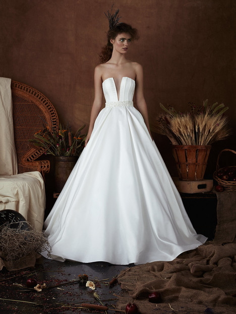 Nickie Wedding                                          dress by Isabelle Armstrong