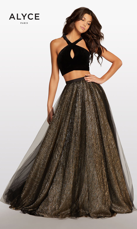 103 (Black + Gold) Prom                                             dress by Alyce Paris