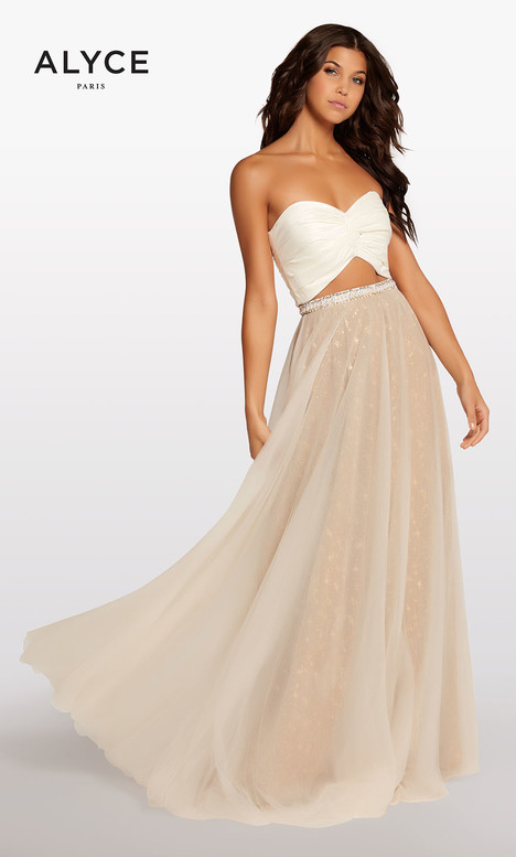 107 (Ivory + Gold) Prom dress by Alyce Paris