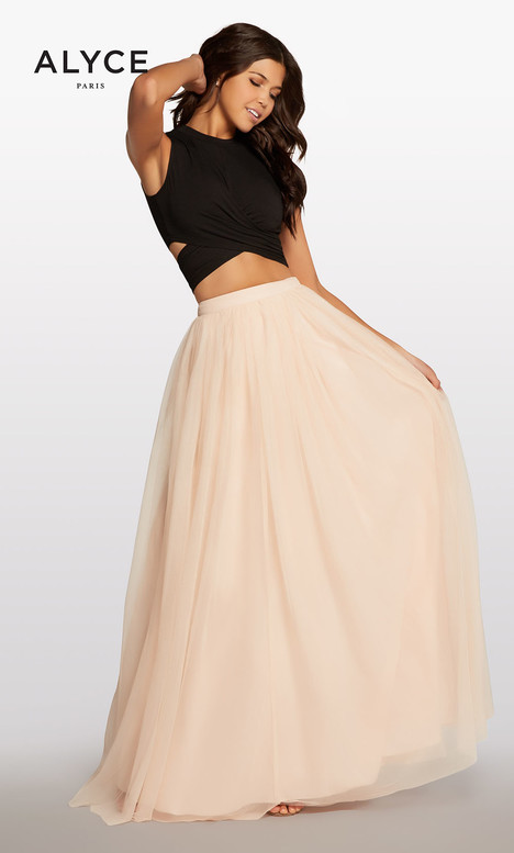 117 (Black + Champagne) Prom                                             dress by Alyce Paris