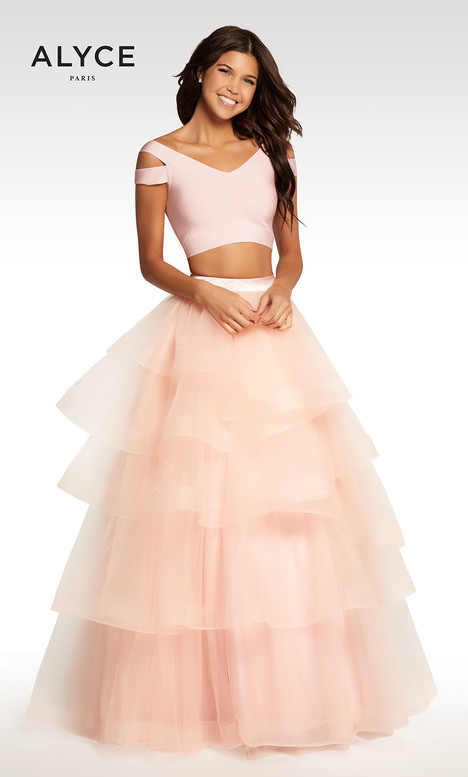 122 (Champagne + Pink) Prom                                             dress by Alyce Paris