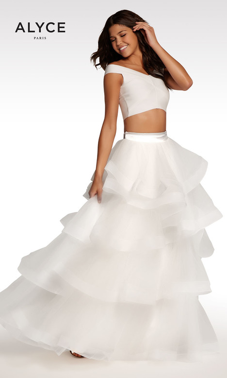 122 (White) Prom                                             dress by Alyce Paris