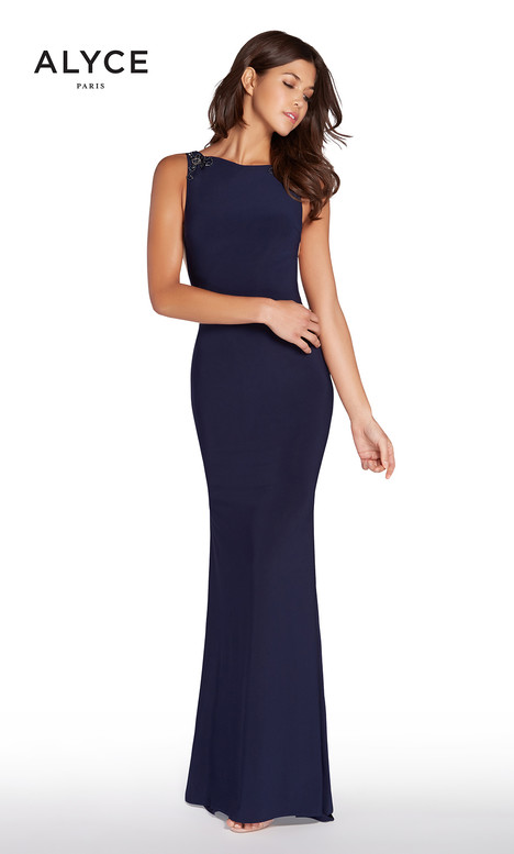 60005 (Midnight Blue) Prom dress by Alyce Paris