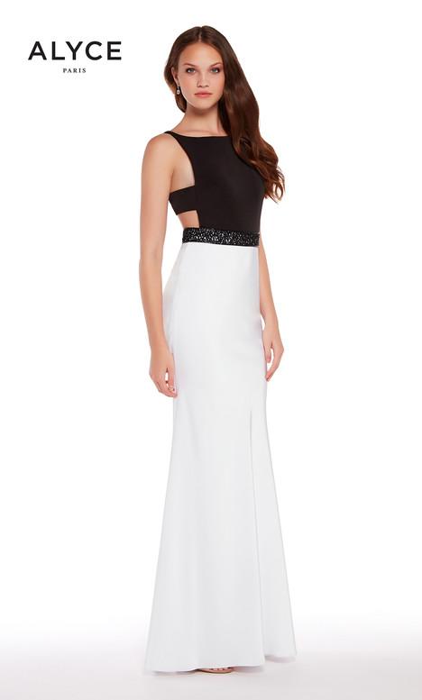 60007 (Black + White) Prom                                             dress by Alyce Paris