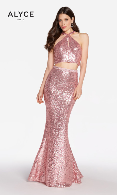 60030 (English Rose) Prom                                             dress by Alyce Paris