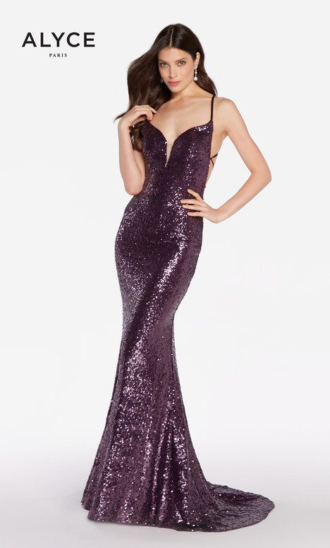 60032 (Eggplant) gown from the 2018 Alyce Paris collection, as seen on dressfinder.ca