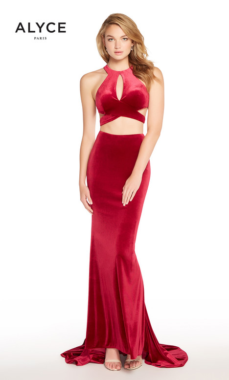 60073 (Wine) gown from the 2018 Alyce Paris collection, as seen on dressfinder.ca