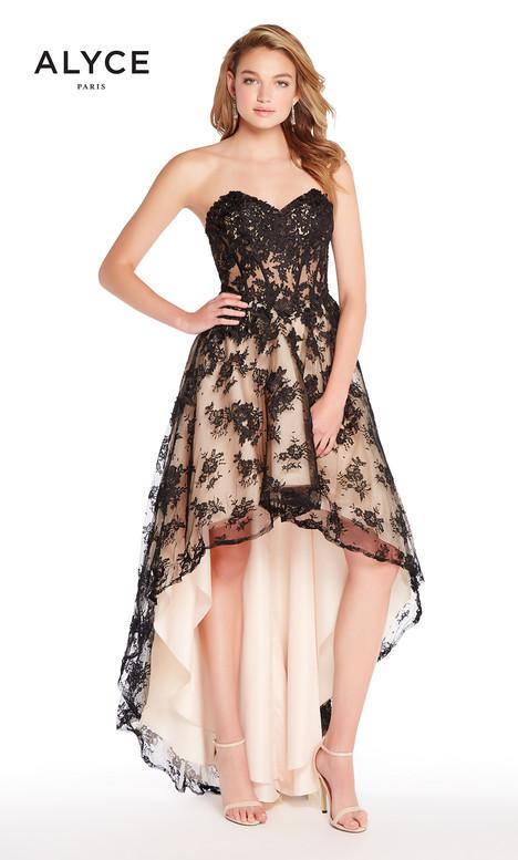 60084 (Black + Nude) Prom                                             dress by Alyce Paris