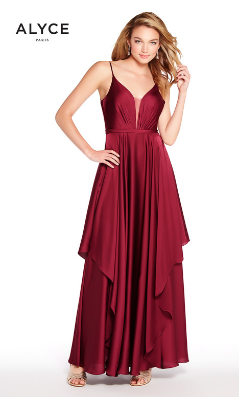 60091 (Black Cherry) Prom                                             dress by Alyce Paris