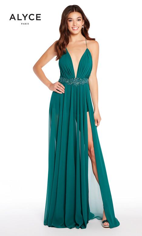 60093 (Pine) Prom                                             dress by Alyce Paris