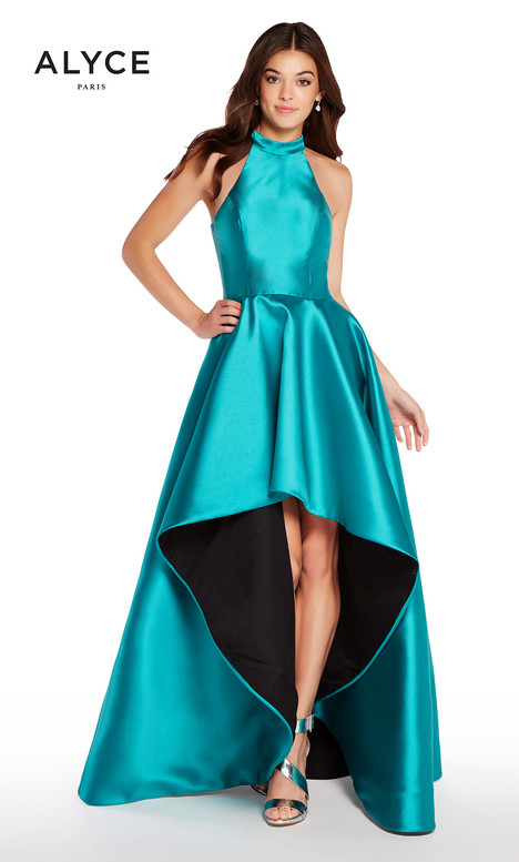 60100 (Emerald + Black) gown from the 2018 Alyce Paris collection, as seen on dressfinder.ca