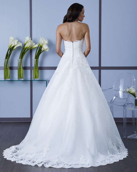 4617 (Back) Wedding                                          dress by Romantic Bridals: Hearts Desire