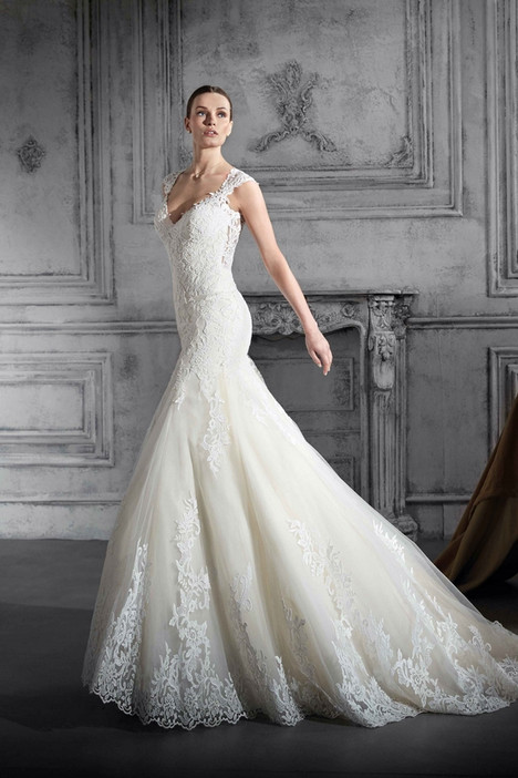 740 Wedding                                          dress by Demetrios Bride