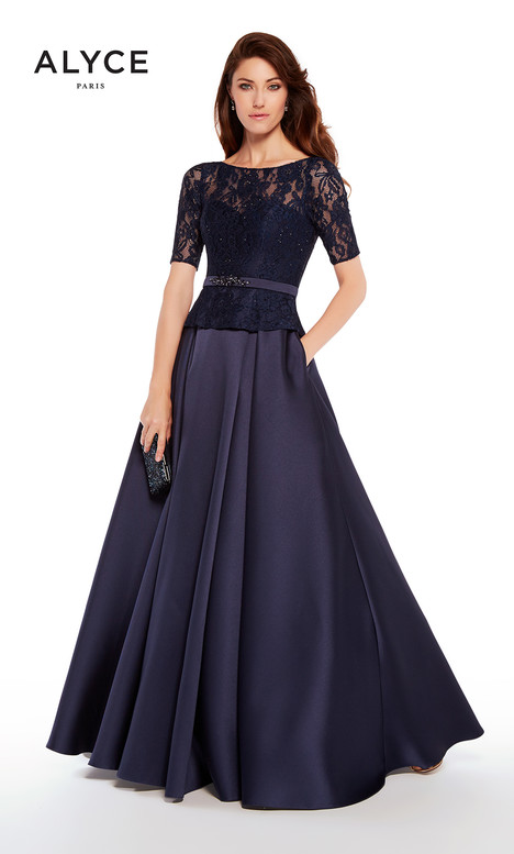 27231 (Navy) Mother of the Bride                              dress by Alyce Paris: JDL Collection