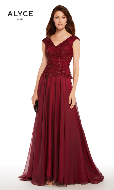 27232 (Burgundy) Mother of the Bride                              dress by Alyce Paris: JDL Collection