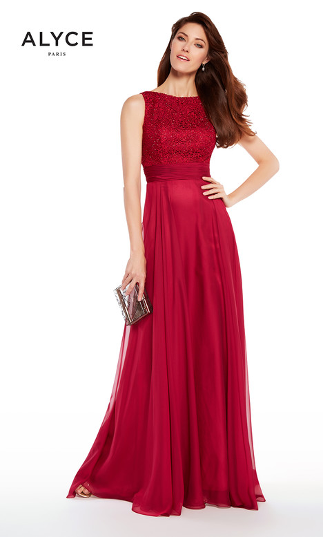 27233 (Raspberry) Mother of the Bride                              dress by Alyce Paris: JDL Collection