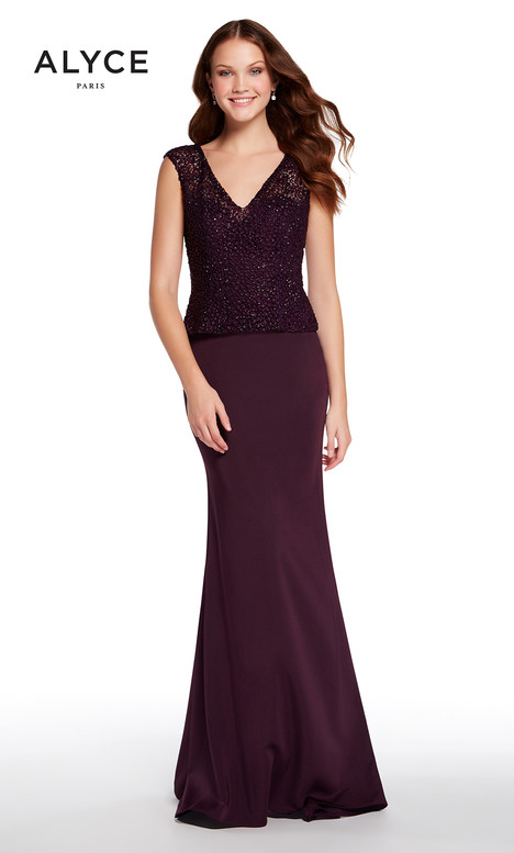27239 (Aubergine) Mother of the Bride                              dress by Alyce Paris: JDL Collection
