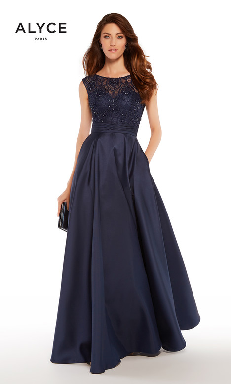 27243 (Midnight Blue) gown from the 2018 Alyce Paris: JDL Collection collection, as seen on dressfinder.ca