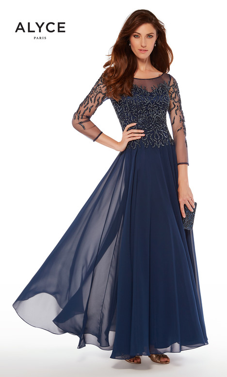 27244 (Navy) gown from the 2018 Alyce Paris: JDL Collection collection, as seen on dressfinder.ca