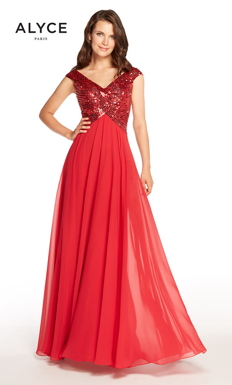 27245 (Red) Mother of the Bride                              dress by Alyce Paris : Mother of the Bride
