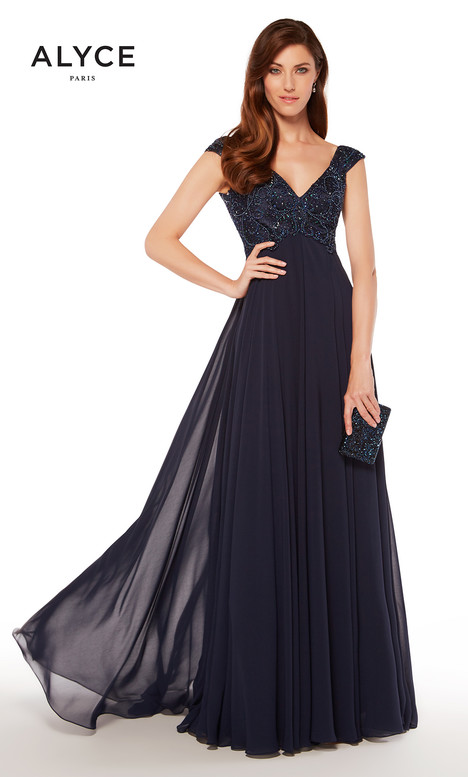 27246 (Navy) Mother of the Bride                              dress by Alyce Paris : Mother of the Bride