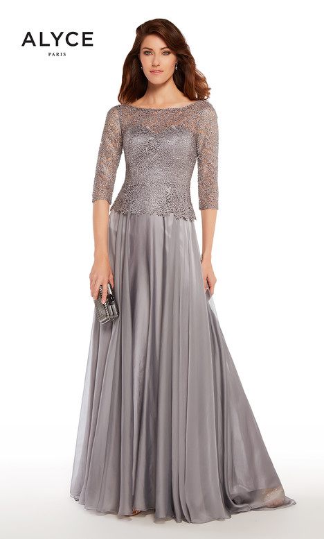 27251 (Pewter) Mother of the Bride                              dress by Alyce Paris: JDL Collection