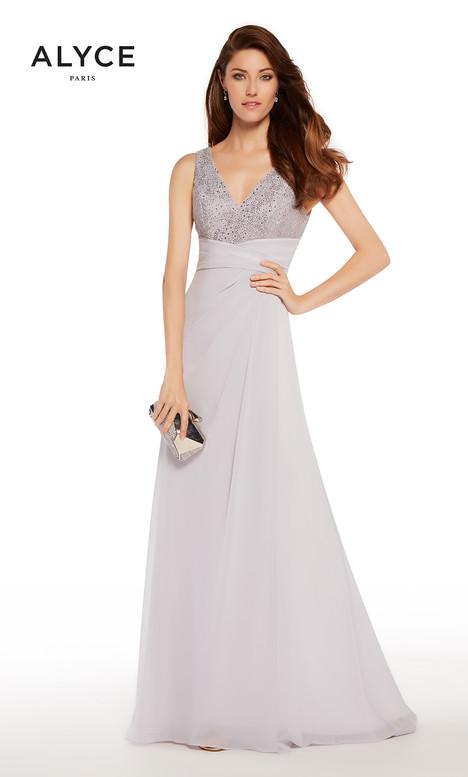 27254 (Silver) Mother of the Bride                              dress by Alyce Paris : Mother of the Bride