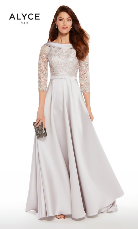 27256 (Silver) Mother of the Bride dress by Alyce Paris: JDL Collection