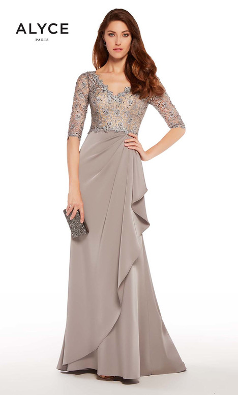 27260 (Charcoal) Mother of the Bride                              dress by Alyce Paris: JDL Collection
