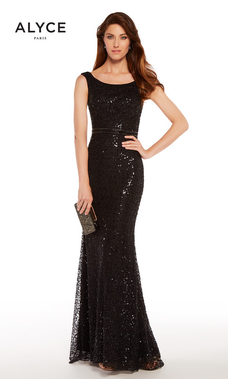 27268 (Black) Mother of the Bride                              dress by Alyce Paris : Mother of the Bride
