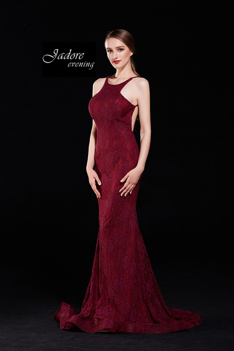 J12002 (Wine) Prom                                             dress by Jadore Evening