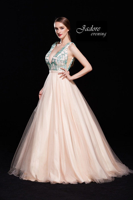 J12003 (Aqua Blush) Prom dress by Jadore Evening
