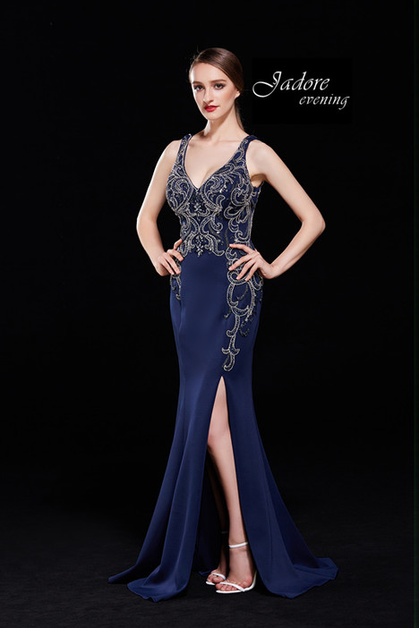 J12010 (Navy) Prom                                             dress by Jadore Evening