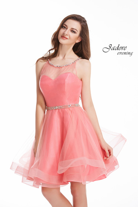 J12025 (Coral) Prom                                             dress by Jadore Evening
