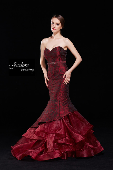 J12035 (Burgundy) gown from the 2018 Jadore Evening collection, as seen on dressfinder.ca