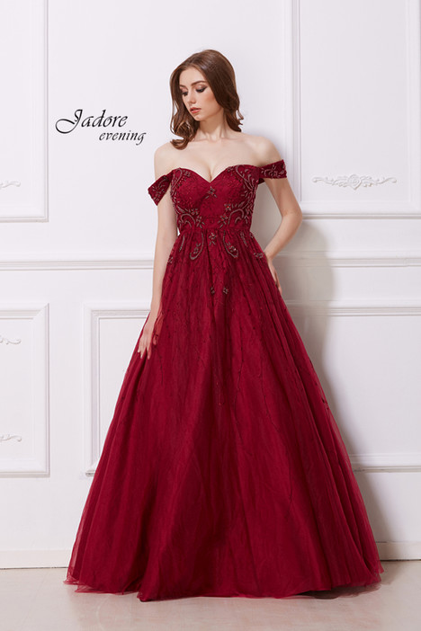 J12036 (Wine) gown from the 2018 Jadore Evening collection, as seen on dressfinder.ca