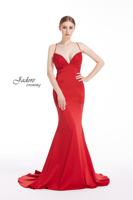 J12038 (Red) gown from the 2018 Jadore Evening collection, as seen on dressfinder.ca
