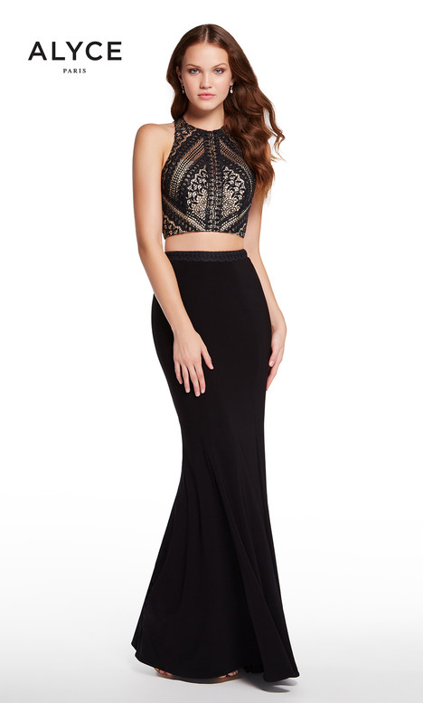 60134 (Black Nude) gown from the 2018 Alyce Paris collection, as seen on dressfinder.ca