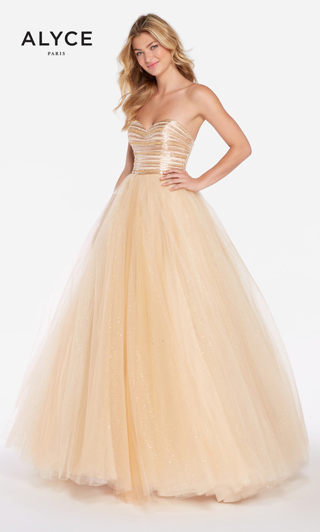 60145 (Champange) gown from the 2018 Alyce Paris collection, as seen on dressfinder.ca