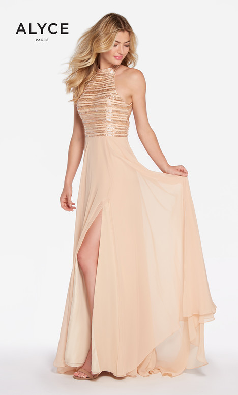 60146 (Light Gold) Prom dress by Alyce Paris