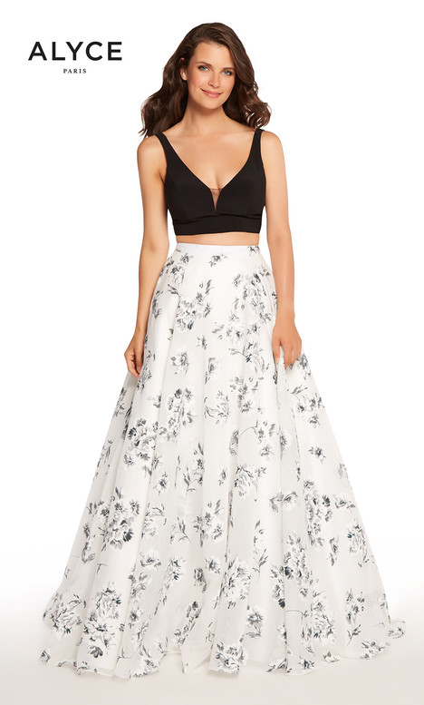 60182 (Black White) gown from the 2018 Alyce Paris collection, as seen on dressfinder.ca