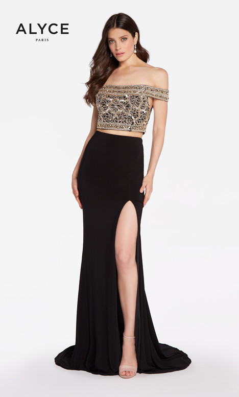 60192 (Black Gold) gown from the 2018 Alyce Paris collection, as seen on dressfinder.ca