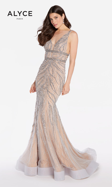 60233 (Silver) gown from the 2018 Alyce Paris collection, as seen on dressfinder.ca