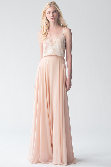 Emerson(top) + Winslow(skirt)(Blush) gown from the 2016 Jenny Yoo Bridesmaids collection, as seen on dressfinder.ca