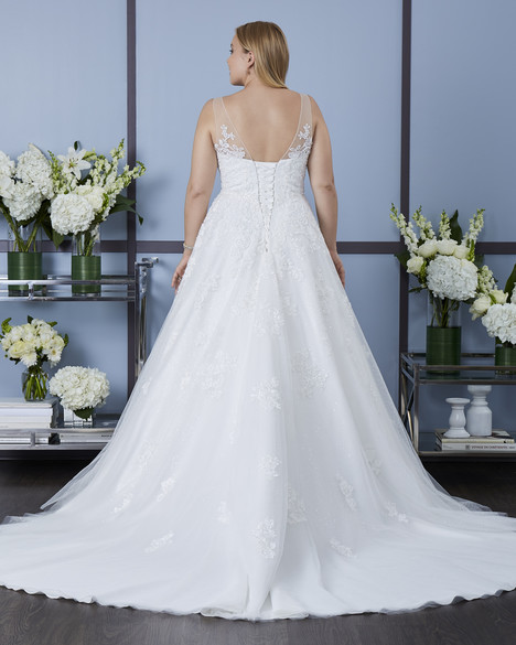 7630W (back) Wedding                                          dress by Romantic Bridals : Romantic Plus