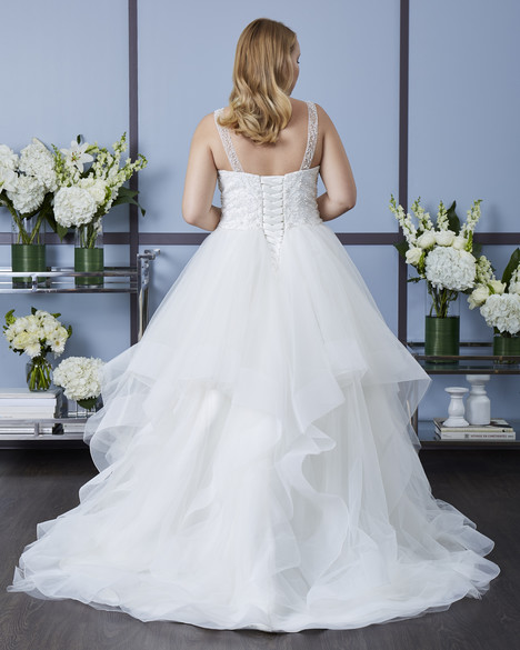 7635W (back) Wedding                                          dress by Romantic Bridals : Romantic Plus