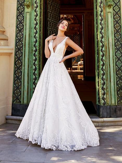 Luciana James Wedding                                          dress by Val Stefani
