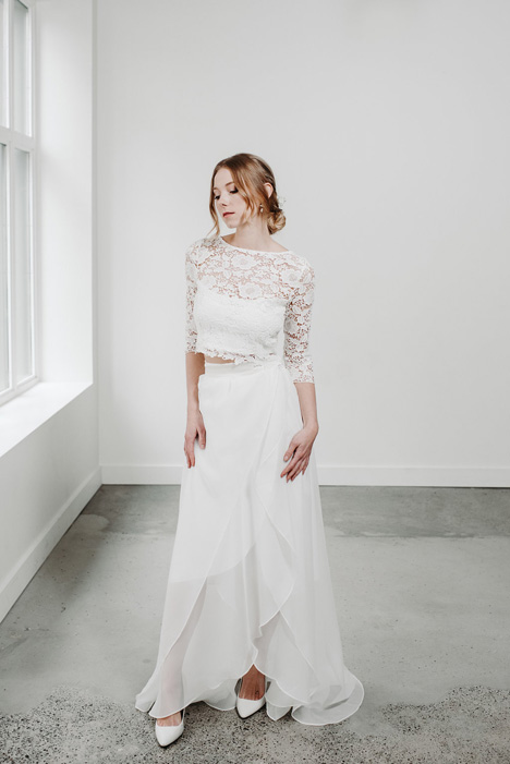 Wrap Skirt Wedding                                          dress by Pure Magnolia