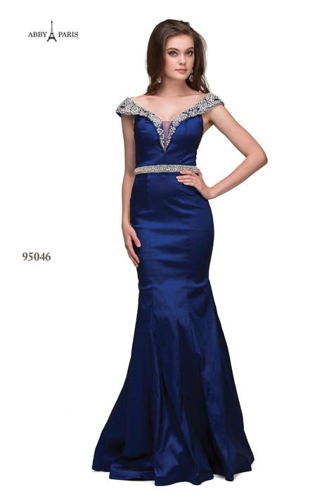 95046-Navy Prom                                             dress by Abby Paris