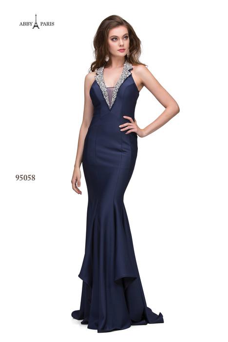 95058-Navy Prom dress by Abby Paris